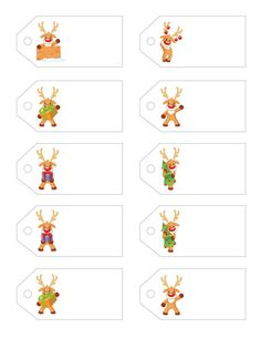 Color your own christmas tags print and user personalized free printable christmas gift tags little rudolph a wee gift for you from letters negle Image collections