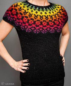 Icelandic Lopi Vest Over the rainbow by unneva on Etsy, $100.00
