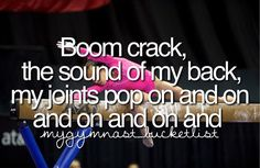 Since starting cheerleading again I pop, crack and click at any given moment without meaning to