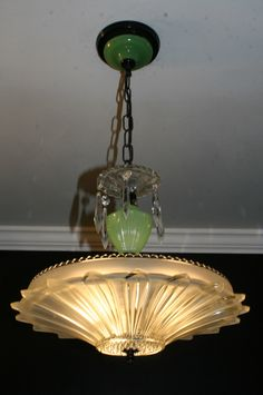 ~ 'Art Deco' Jadiete Sunflower Ceiling Chandelier ~