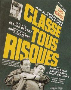 Classe tous risques est un film français réalisé par Claude Sautet, sorti sur les écrans en 1960. Gangster condamné à mort par contumace et recherché par la police, Abel Davos s'est réfugié en Italie avec sa femme Thérèse et ses deux enfants. Mais après un coup avec son ami Raymond, sur le point d'être retrouvé, il doit rentrer clandestinement en France. En débarquant sur une plage déserte, deux douaniers les surprennent, provoquant une fusillade tuant Thérèse et Raymond.