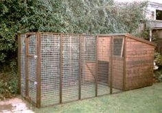 double decker dog house with run attached.