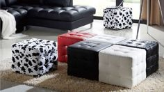 Amazing-6-Cube-Ottomans-From-Leather-and-Fabric