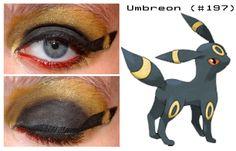 Umbreon inspired make up Pokemon Halloween, Halloween 2017, Pokemon Makeup, Pokemon Go, Eye Makeup, Make Up, Glamour, Deviantart, Cosplay Ideas