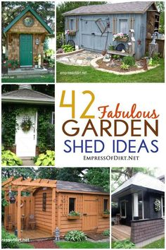 42 Fabulous Garden Shed Ideas | From tiny to grand, she-sheds to guest house bunkies, and traditional garden tool storage huts, we've got them all.
