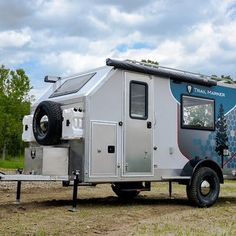 Composite camping trailers blur the line between backcountry lodge and toy-hauling garage Composite Off Road Camper Trailer, Camper Caravan, Camping Trailers, Teardrop Trailer Plans, Trailer Build, Best Trailers, Tiny Trailers, 6x12 Enclosed Trailer, Hiker Trailer