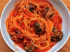 Spaghetti done the right way... with Sriracha Marinara!