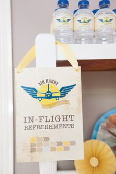 plane drinks for a vintage airplane party