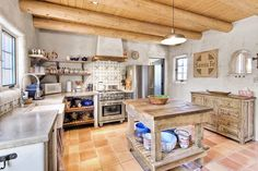 This New Mexico kitchen is filled with a lot of locally-bought pieces.