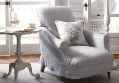 Ralph Lauren Home chair with slipcover