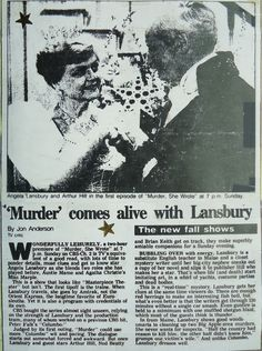 Angela Lansbury, Jessica Fletcher Murder She Wrote