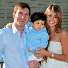 Messi con Thiago y Antonella