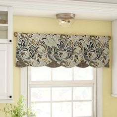 The smartly tailored Baytown Petticoat Window Valance touts a stunning paisley motif perfectly coordinated with a mini check and matching fabric covered buttons. Decor, Window Valance, Custom Drapes, Home, Windows, Window Shades, Kitchen Window Treatments, Window Design, Curtains