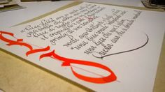 Calligrafia cancelleresca. Info: www.bellascrittura.eu
