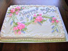 50th Wedding Anniversary Sheet Cake