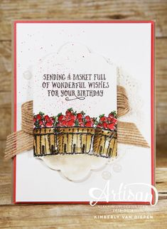 Basket of Wishes stamp set is perfect for any type of occasion.  www.stampinbythesea.com