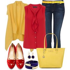Yellow, Red and Navy