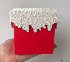 Mini porta-panetone em mdf #artesanato #mdf #madeira #pintura #natal #panetone #tutorial #diy #pap #passoapasso #handmade #façavocemesmo #artesanal #criativo #dica #ideia #marrispe