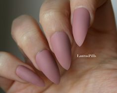Taupe cashmere stiletto false nails! Matte or glossy Nude Beige greige mauve pink fake nails by LaurasPills on Etsy https://www.etsy.com/listing/289359125/taupe-cashmere-stiletto-false-nails