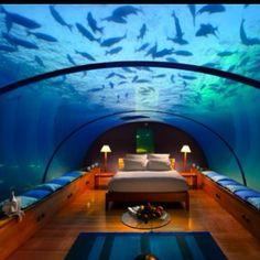 Stay in an underwater hotel