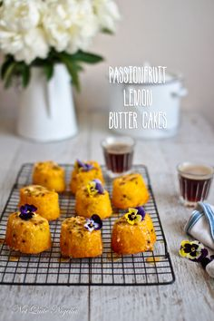Passionfruit & Lemon Mini Cakes @ Not Quite Nigella