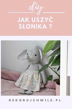 Instrukcja krok po kroku plus wykrój do pobrania.   #szycie #maskotki #zabawki #toy #handmade #slon #słoń #słonik
