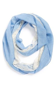 Tucker + Tate Chambray & Lace Infinity Scarf (Big Girls) available at…