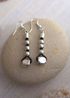 1573925b7f14 Dangle Silver Earrings Leather earrings Women earrings Silver Leather  Earrings Urban style Long Earrings Boho Earrings Modern earrings