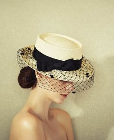Penelope from Misa Harada Occasion Hats, Boater Hat, Wedding Hats, Love Hat, Cool Hats, Girl With Hat, Hats For Women, Womens Fashion, Fascinators
