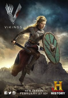 """Lagertha played by Katheryn Winnick on the History Channel, """"Vikings"""""""
