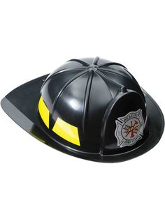 e35a5d57c967b Black Deluxe Fireman Helmet. Halloween Costume HatsWholesale ...