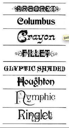 Victorian Fonts: Fillet with design through Vintage Typography, Typography Fonts, Typography Design, Hand Lettering, Logo Design, Graphic Design, Victorian Fonts, Victorian Design, Victorian Era