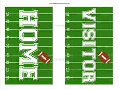 Home/Visitor Football Signs - {Free} Printable Football Decorations