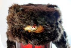Vintage Russian Military Ushanka Brown Fur Hat Ear Flaps