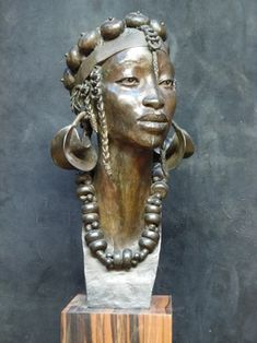 Mali by Jacques Darbaud, 2012 Statues, Art Afro, African Tattoo, African Sculptures, Art Sculpture, Contemporary Artwork, Oeuvre D'art, Black Art, Les Oeuvres