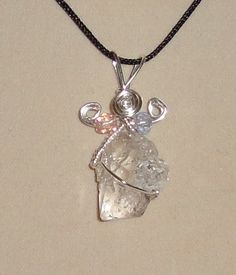 Wire Wrapped Herkimer Diamond Pendant by CrystalLinda on Etsy