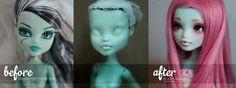 Custom Monster High Frankie Stein by AndrejA
