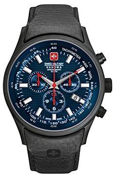 Swiss Military Hanowa Herren-Armbanduhr XL Analog Quarz Leder 06-4156.13.003 - http://uhr.haus/swiss-military-hanowa/swiss-military-hanowa-herren-armbanduhr-xl-quarz-32