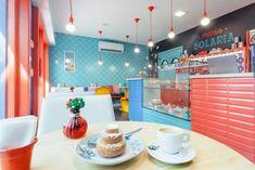 Resultado de imagem para maria bolaria Cafe Interior, Interior Design, Small Cafe, Shop Interiors, Simple Pleasures, Sweet Life, Business Design, Colorful Interiors, Patisserie