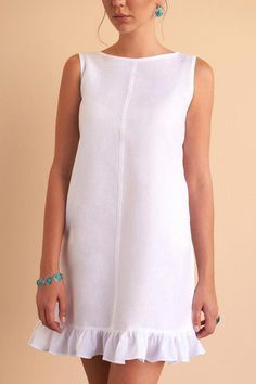 The Lana all white linen dress will no doubt make a staple in your wardrobe. Simple Dresses, Cute Dresses, Summer Dresses, Dresses Dresses, Dance Dresses, Summer Outfits, Short Dresses, Formal Dresses, Modest Fashion