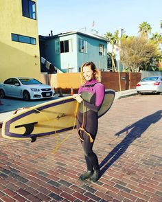 A little reprieve from the rain, time to sneak out and get busy   #surf #surfergirl #venice #breakwater #love #happy #girl #la #waves #water #swell #winter #funboard #garylinden #photography #sun