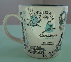 cuter then caribou coffee sleeve pattern by aimee powers Caribou Coffee, Coffee Sleeve, How To Stay Awake, Cute Mugs, Mug Shots, Gift List, Life Is Short, Blue Brown, Starbucks