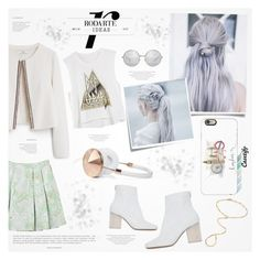 """♠ White and Green"" by paty ❤ liked on Polyvore featuring MANGO, Maison Margiela, Post-It, Frends, Marni, Jennifer Zeuner and Casetify"