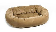 Platinum Microvelvet Donut Pet Bed - Cashew Suede (Saddle - Large) *** You can get additional details at the image link.