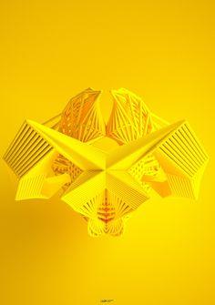 Leonardoworx crea complejas formas de vida digitales utilizando el método iterativo.