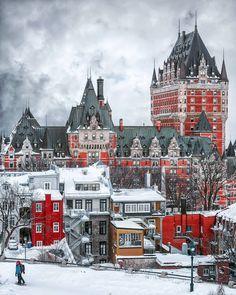 Chateau Frontenac Canada via : castellidelmondo on IG Chateau Frontenac Quebec, Pvt Canada, Visit Canada, Chute Montmorency, Quebec Winter, Le Petit Champlain, Grand Budapest Hotel, Montreal Canada, Montreal Travel