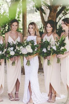 Bridesmaid dresses Cody and Cassie's elegant and effortless wedding, featuring Grace Loves Lace Alexandra gown. Grace Loves Lace, Perfect Wedding, Dream Wedding, Wedding Day, Wedding Rustic, Woodland Wedding, Lace Wedding, Wedding Shoes, Party Wedding