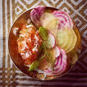 Tartare de saumon au raifort - une recette Nordique - Cuisine