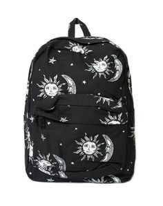 Buy Motel Tripper Printed Rucksack in Sun, Moon and Stars at Motel Rocks - Motel… Rucksack Bag, Backpack Purse, Fashion Backpack, Estilo Indie, Cute Backpacks, Unique Backpacks, Moon Jewelry, Zipper Bags, Purses And Bags