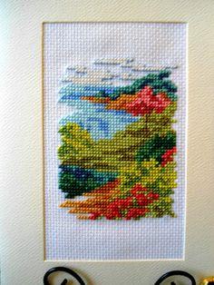 Cross Stitch Card Serene Countryside Moment by theelegantstitchery, $15.00